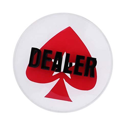 TX NIÑA Botón Distribuidor Autorizado del Casino Botón del Juego Crystal Distribuidor Hold'em Poker Texas For Casino Bounty Torneo Prop De 3 Pulgadas (Size : 8cm/3.15inch)