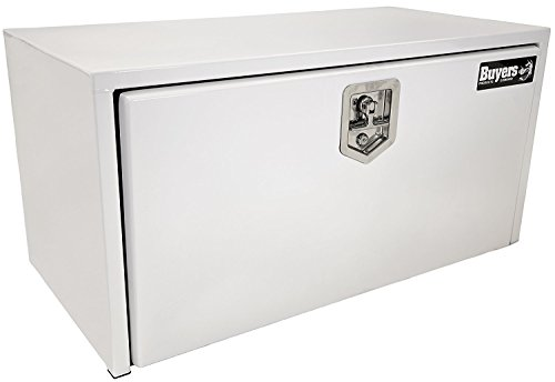 Buyers Products White Steel Underbody Truck Box w/T-Handle Latch (18x18x30 Inch) (1702403)