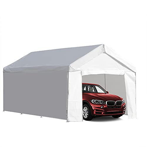 LVUYOYO 10x20 ft Heavy Duty Carport - Car Canopy Garage Shelter Boat Party Tent Shed with Removable...