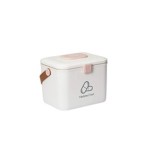 Phoeni Aufbewahrungsbox für Zuhause, Medikamentenschrank, Weiß, 27 x 24 x 22 cm