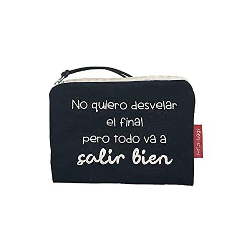 Hello-Bags - Monedero con Cremallera y Forro Interior,...