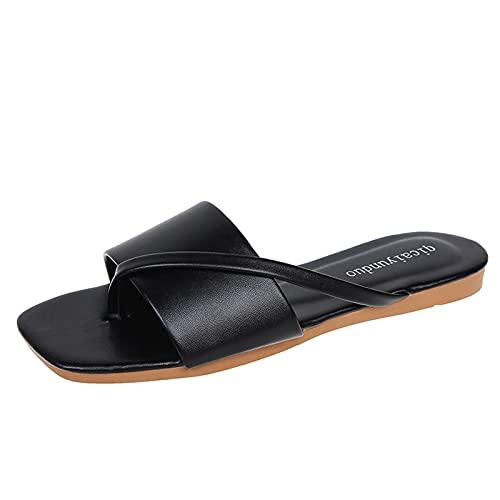 scarpe donna chiuse estive estiv donna ciabatte plantar scarp mare donna infradito donna sughero ciabatte donna bianche estive sandalo donna (34D-Black,39.5)