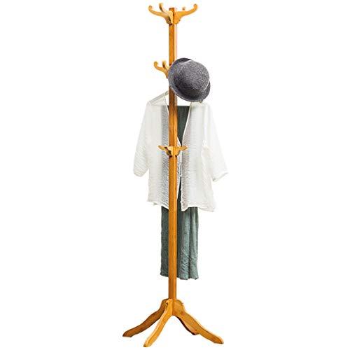 QIFFIY Perchero de madera para colgar abrigos, con forma de árbol, con 12 ganchos, colgador para el árbol de la entrada, perchero para pasillo de madera (color: A)