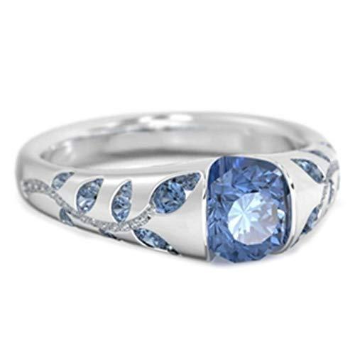 Anillo de dedo Benoon para nudillos, anillo de dedo con incrustaciones de diamantes de imitación de zafiro con incrustaciones de diamantes de imitación para mujer - oro rosa US 7