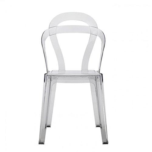 Set di 4 sedie Titì di Scab Design impilabile, Trasparente