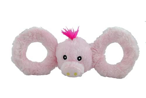 Jolly Pets Tug-A-Mals Jouet en Forme de Cochon pour Chien Taille L