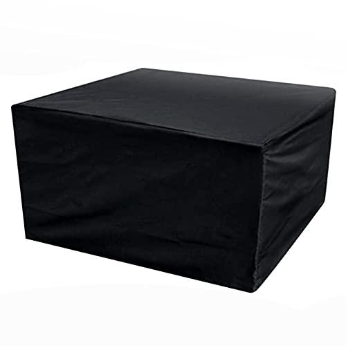ZWYSL Jardín Funda Muebles para Banco, Silla, Sofá a Prueba de Polvo Cubierta Resistente de los Muebles del Jardín de la Tabla, 28 Tamaños, Personalizable (Color : Negro, Size : 205×104×71cm)
