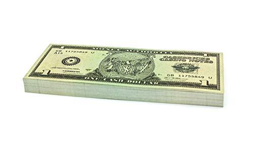 Cashbricks 100 x $1 Dollar Spielgeld Scheine