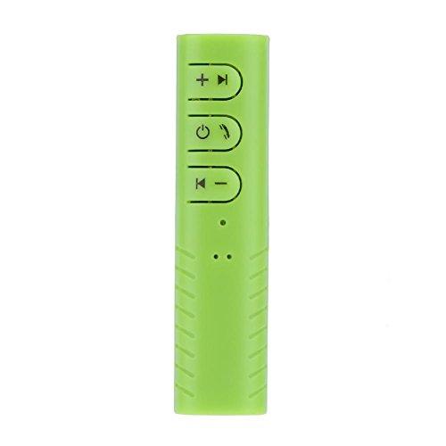 Prettygood7 Auto Bluetooth Ontvanger Audio Adapter 3.5mm Aux met Draadloze Oortelefoon Groen