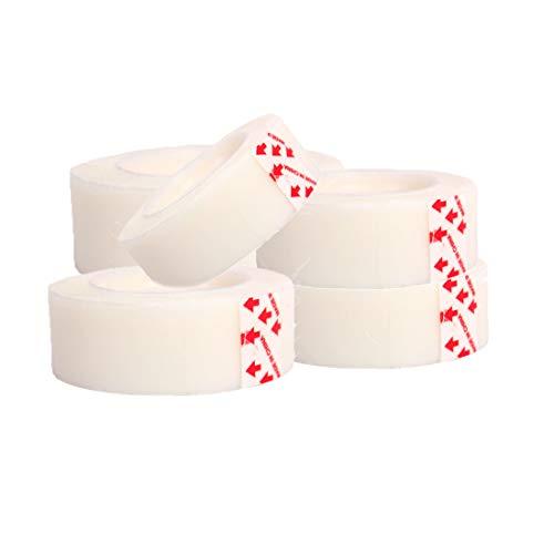 Cinta adhesiva 25 m x 18 mm 5 rollos de cinta blanca multiusos cinta adhesiva para decorar el hogar