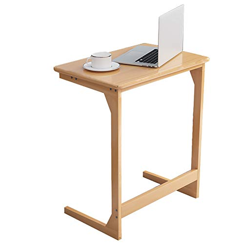 Mesa Auxiliar Madera Escritorio para Laptop, En Forma de C Mesa de Café para el Lado del Sofá de la Sala de Estar/Dormitorio Junto a la Cama/Balcón, Fácil de Montar (Size : 60×40×70cm)