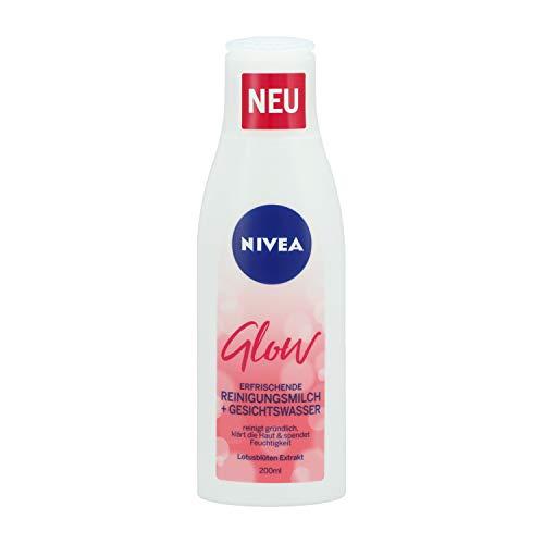 Nivea Glow Erfrischende Reinigungsmilch + Gesichtswasser, 2er Pack (2 x 200ml)