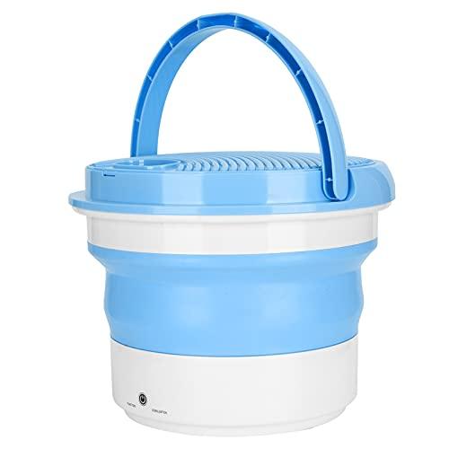 Weiyo Lavadora Plegable - Mini Lavadora Plegable Portátil de 7 L Ropa Ropa Interior Lavadora Lavadora de Viaje para Hogar Dormitorios Apartamentos Viajes de Negocios Viajes Limpieza Rápida(EU)