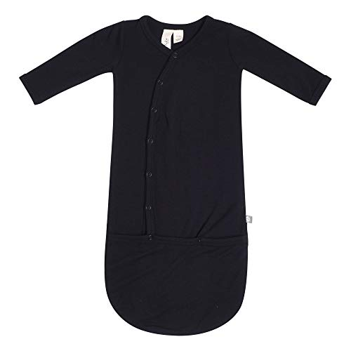 KYTE BABY Bundlers - Unisex Baby Sleeper Gowns Made of Soft Bamboo Rayon Material (Newborn, Midnight)