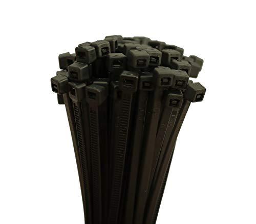 Kabelbinder Auswahl 2,5-3,6-4,8 x 100-140 - 200-250 - 300 mm Natur/Weiß oder Schwarz (1000 Stück 3,6 x 200 mm, Schwarz)