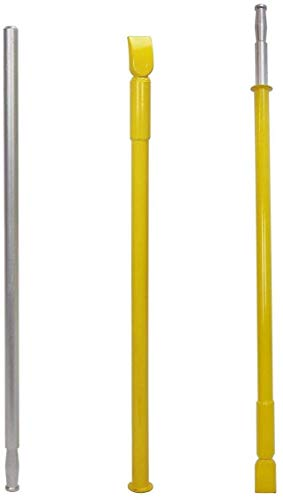 Honhill Portable Tire Bead Breaker for Car Truck Trailer Slide Hammer Ram Bar Impact Tire Changing Tool Manual Tire Charger (Yellow)