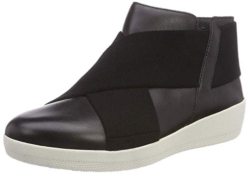FitFlop Women's Superflex Tm Ankle Boot Hi-Top Trainers (Black 001), 6 UK