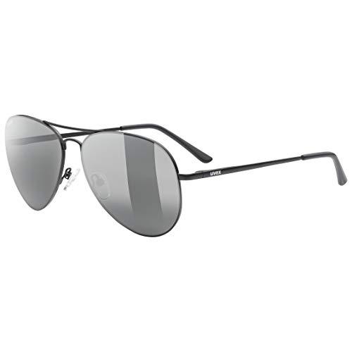 uvex lgl 45 P Gafas de Sol, Unisex-Adult, Black Mat/ltm. Silver, One Size