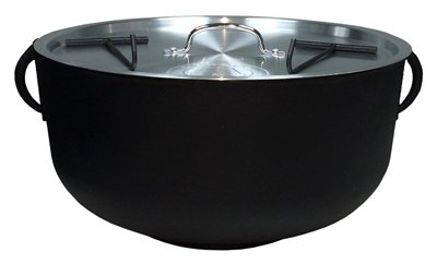 METAL FUSION 5924S Cast Iron Outdoor Cooking Pot, 4-Gal. - Quantity 1
