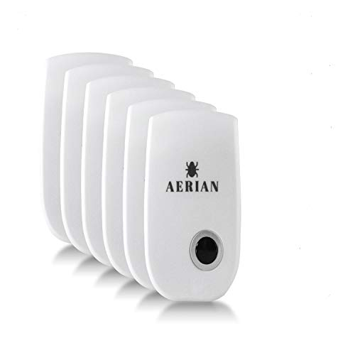 AERIAN Ultrasonic Pest Repeller NEW 2020 6 pack - Dual Wave Repellent for...