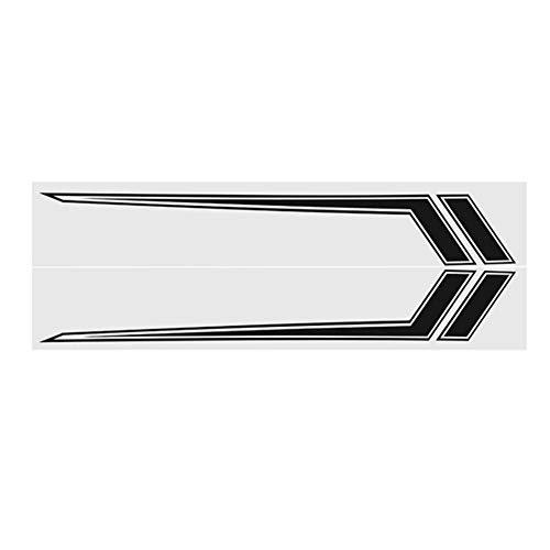 AAlamor auto zijdeur streep stickers decoratie stickers 170x23cm paar voor Dodge Ram 2009-2018 Mat zwart