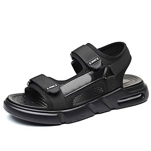 Sandalias Trekking para Mujer Zapato Deportivas Verano Exterior Respirable Comodo Antideslizantes Verano Zapatos de Playa y Piscina para Estudiante,jardín,Fiesta,Domingo (Color : Black, Size : 42)