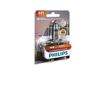 Philips H1 12258 X-treme Vision G Force Headlight Bulb (12V, 55W)