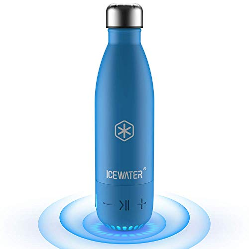 ICEWATER 3-in-1 Smart Stainless Steel Water Bottle(Glows to Remind You to Stay Hydrated)+Bluetooth...