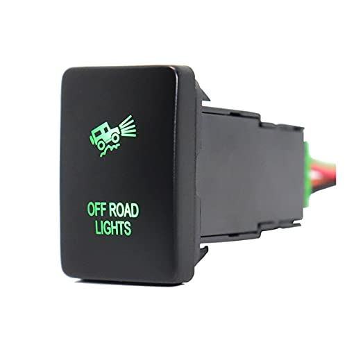 Jingshi SYUCHENG Batería AUX con 12V / Barra de luz LED/Cámara de inversión Interruptor de botón Push Button Lights Fit para Toyota Hilux Prado Highlander Landcruiser RAV4 (Color : Off Road Lights)
