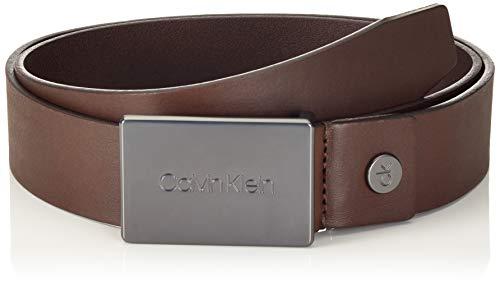 Calvin Klein 3.5cm Adj.Plaque Belt Cinturón, Marrón (Turkish Coffee 201), 120 (Talla del fabricante: 105) para Hombre