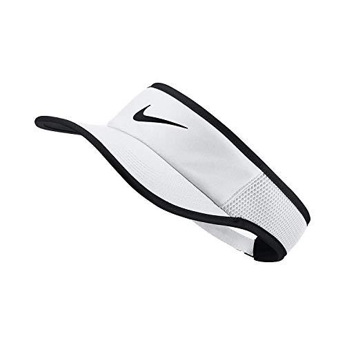 Nike Aerobill Featherlight Visor White/Black/Black Baseball Caps