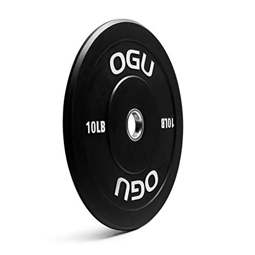 Barbell Plate Pure Rubber Olympic Weights 51mm/2inch Aperture Free Weights For Gym Strength Training Exercise Work Out Single Weight Plates (Color : 10lb x1)