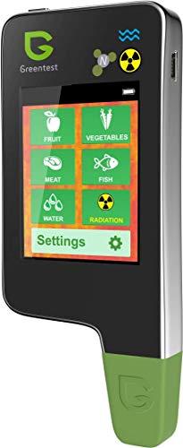 6in1 Greentest Eco 5 + Poisson Portable le nitrate et le détecteur de rayonnement + Test d'eau TDS nitrate testeur Détecteur de Radiation Detecteur d geiger counter (Noir)