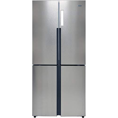 Haier HTF-556DP6 American Fridge Freezer - Silver
