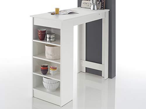 möbelando Bartisch Esstisch Tresentisch Küchentisch Bistrotisch Tisch Rosalyn I Weiß