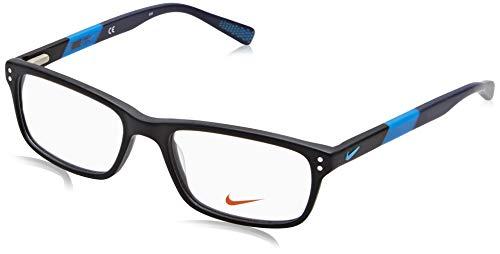 NIKE 7237 011 52 Monturas de gafas, Matte Black/Photo Bluee, Hombre