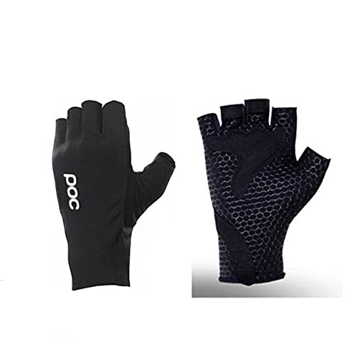 Guantes de Ciclismo de Gel de medio dedo, guantes deportivos de carreras para bicicleta, guantes para bicicleta de carretera de verano para hombres y mujeres, guantes para Ciclismo MTB Luva-Black-2-L