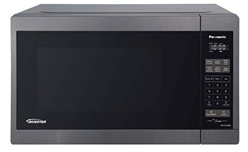 Panasonic NNSC688S Mid-Size 1200W Inverter Microwave Oven, 1.3 Cuft, Black Stainless Steel