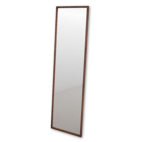NaturalHouse 日本製 ミラー 鏡 アンティーク ウォールミラー 木製 フレーム (幅 43.6 奥行 2 高さ 148 cm) 飛散防止 (BR ブラウン)