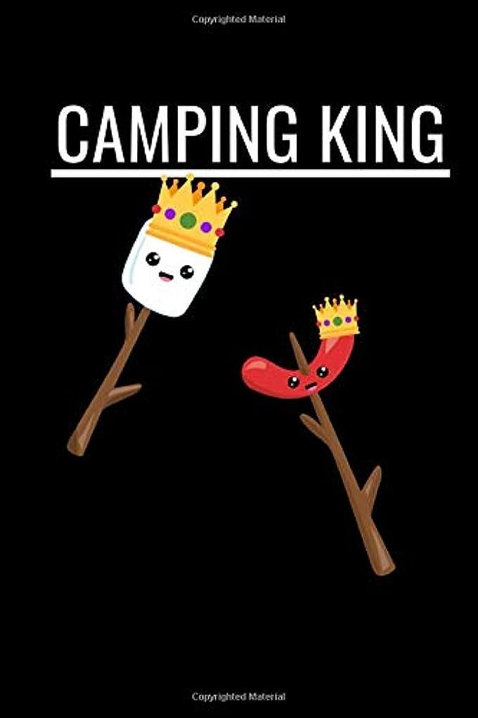 形式スイヘリコプターCamping King: Novelty Summer Notebook ~ Small Lined Notebook