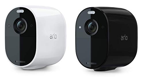 Arlo Essential Spotlight WLAN Überwachungskamera | Kabellos, 1080p, Farbnachtsicht, 2-Wege Audio, 6 Monate Akkulaufzeit, Bewegungsmelder, direkte WLAN Verbindung, kein Hub erforderlich, 2er Set