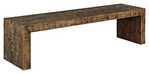 """Signature Design by Ashley Sommerford 65"""" Dining Room Bench, Brown"""