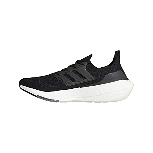 adidas Men's Ultraboost 21 Running Shoe, Black/Black/Grey, 8