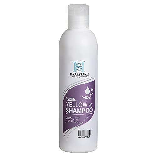 Haarstand Dont Yellow Me - Champú plateado antiamarilla para cabello rubio platino (250 ml)