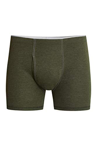 con-ta Thermo Kurze Hose mit Eingriff, Boxershorts für Herren, wärmende Thermounterwäsche mit natürlicher Baumwolle, Herrenbekleidung, Größe: 8/XXL