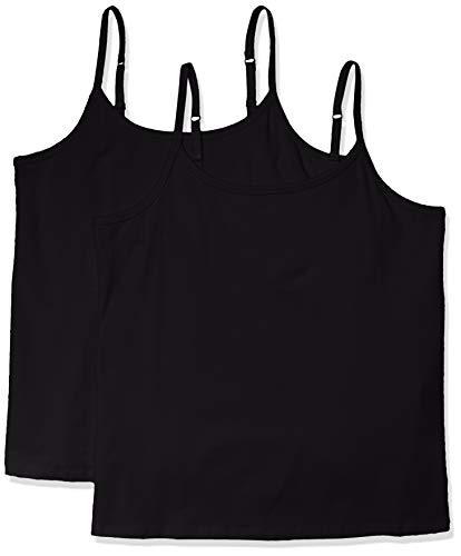 Amazon Essentials Plus Size 2-Pack Camisole Fashion-t-Shirts, Negro, 4X