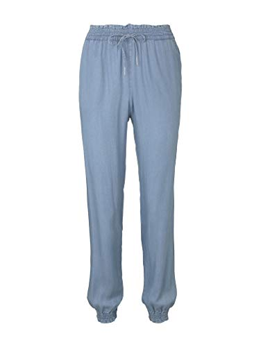 TOM TAILOR Denim Damen Harem Freizeithose Jeans, Blau (10118-Used Light Stone Blu), L