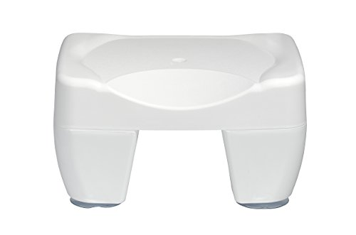 WENKO 7336100 Badewannenhocker Secura - rutschfest, 150 kg Tragkraft, Kunststoff, 40 x 21 x 31 cm, Weiß