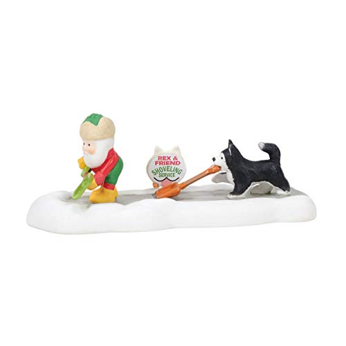 Department 56 North Pole Series Shoveling Budding for Hire Figurine, 1.4 in H 56 North Pole Series
