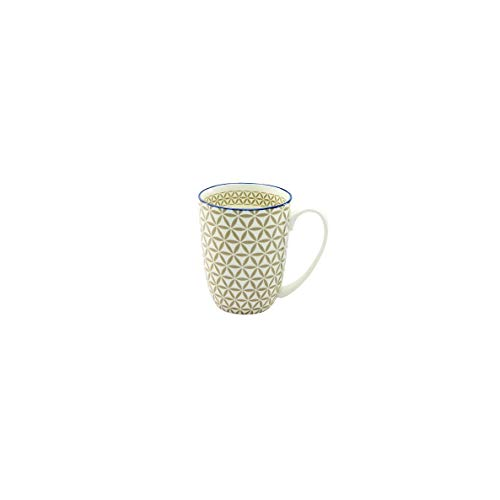 Creatable Mediterran Kaffeebecher/Henkelbecher/Tasse aus Steingut Taupe spülmaschinenfest 300 ml